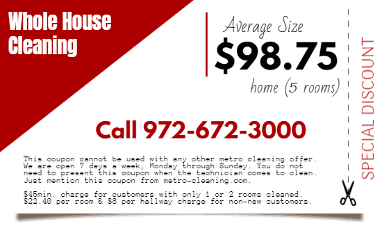 Denton TX Carpet Cleaning Coupon